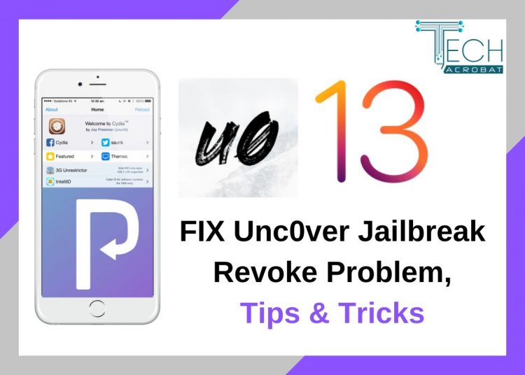 fix unc0ver jailbreak iOS 13.5 app revoke problem issue