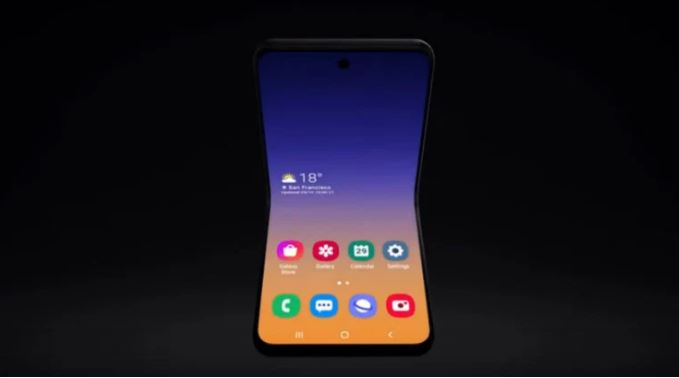 Clamshell-Style Foldable Phone