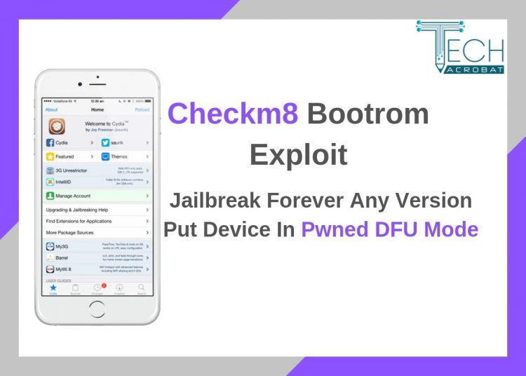 checkm8 bootrom exploit put device in pwned dfu mode