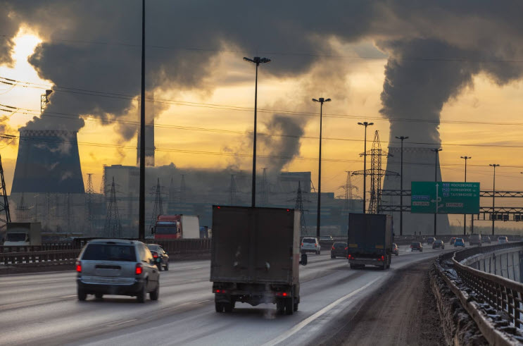 air pollution and CO2 fall