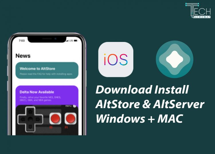 install download altstore ios on windows mac with altserver iOS 14