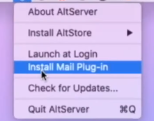 install mail plugin for altserver altstore iOS 14