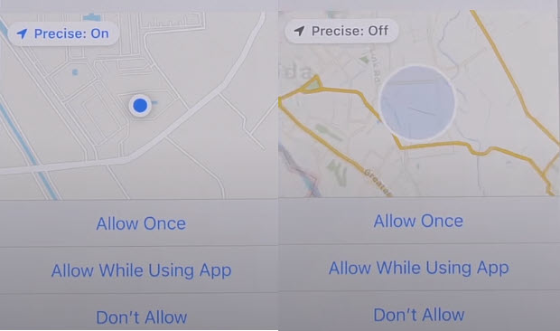 hide turn off location on apps ios feature