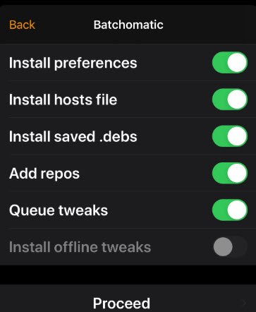 restore backup after go to odyssey jailbreak from unc0ver