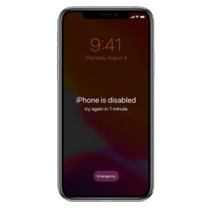 iPhone is disable