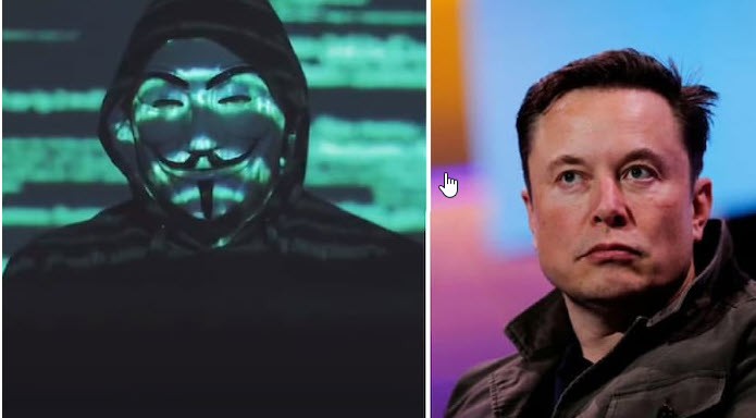 A hacker group Anonymous threatens Elon Musk in a new video