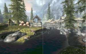 Comparison between native (left) and FRS Ultra Quality (right).