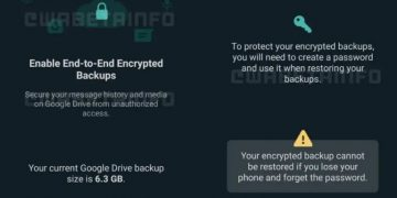 end-to-end encrypted chat backups